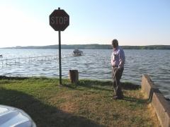 Stop Sign at Lake - IMG_0039