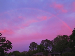 Rainbow over our homes
