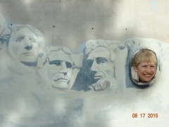 Bev and Mt Rushmore - Chair lift in Keystone (3)