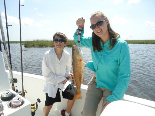Kristy and Cameron with Redfish - Summer 2015 - DSC00245