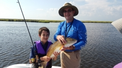 Cameron with Grandfather and Redfish - Summer 2015 - 20150607_090350 (1)