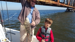 Dylan and Grandfather with Black Drum - Oct 2015 - 20151011_104057 (1)